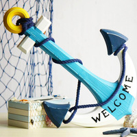 Creative Wooden Anchor Shape Decoration Home Decoration Accessories Modern Creative Household Furnishing Decoration