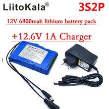 HK Liitokala super przenośny akumulator litowo jonowy DC 12V 12.6V 6800mAh bateria CCTV monitory