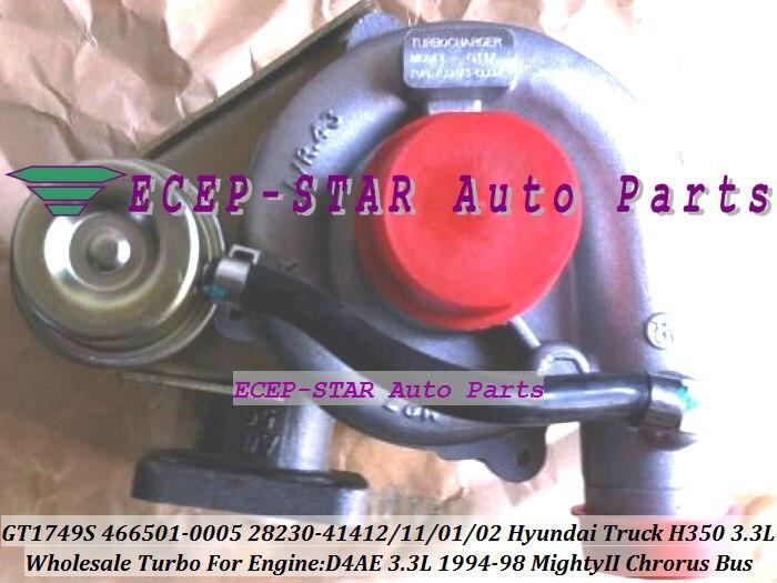 Free Ship 466501-0003 466501-0002 28230-41401 466501-0004 28230-41402 Turbo For HYUNDAI H350 Mighty 2 Chrorus Bus H600 D4AE 3.3L