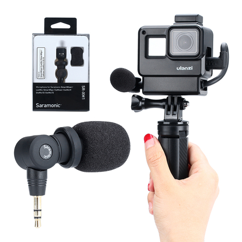 Saramonic SR-XM1 3.5mm TRS Microphone Plug and Play Mic for DSLR Cameras Camcorders Muff Windshield Gift with V2 V2 Pro Cage Karachi