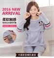 Embarazadas gravida pijama pijama de enfermería lactancia lactancia pijamas de las mujeres otoño invierno de manga larga ropa de Invierno Otoño