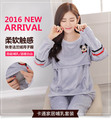 Pregnant gravida nursing pajama pijama lactancia women pajamas fall winter long sleeved breast feeding clothes Winter  Autumn