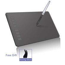 Huion H95P 8,7 »х 5,4″ цифровой Планшеты Батарея-свободный профессиональный графический рисунок пером Планшеты Art доска для рисования с перчатки