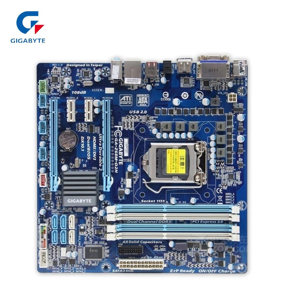 Gigabyte GA-Z68M-D2H Desktop Motherboard Z68M-D2H Z68 LGA 1155 Core i7 i5 i3 DDR3 32G SATA3 USB2.0 VGA DVI HDMI Micro-ATXGigabyte GA-Z68M-D2H Desktop Motherboard Z68M-D2H Z68 LGA 1155 Core i7 i5 i3 DDR3 32G SATA3 USB2.0 VGA DVI HDMI Micro-ATX