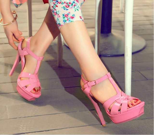 0eddf17a752 Svonces Italian Fashion Design Runway Womens Sandals Summer 2018 Extreme  High Heel Platform Shoes Tribute Sexy