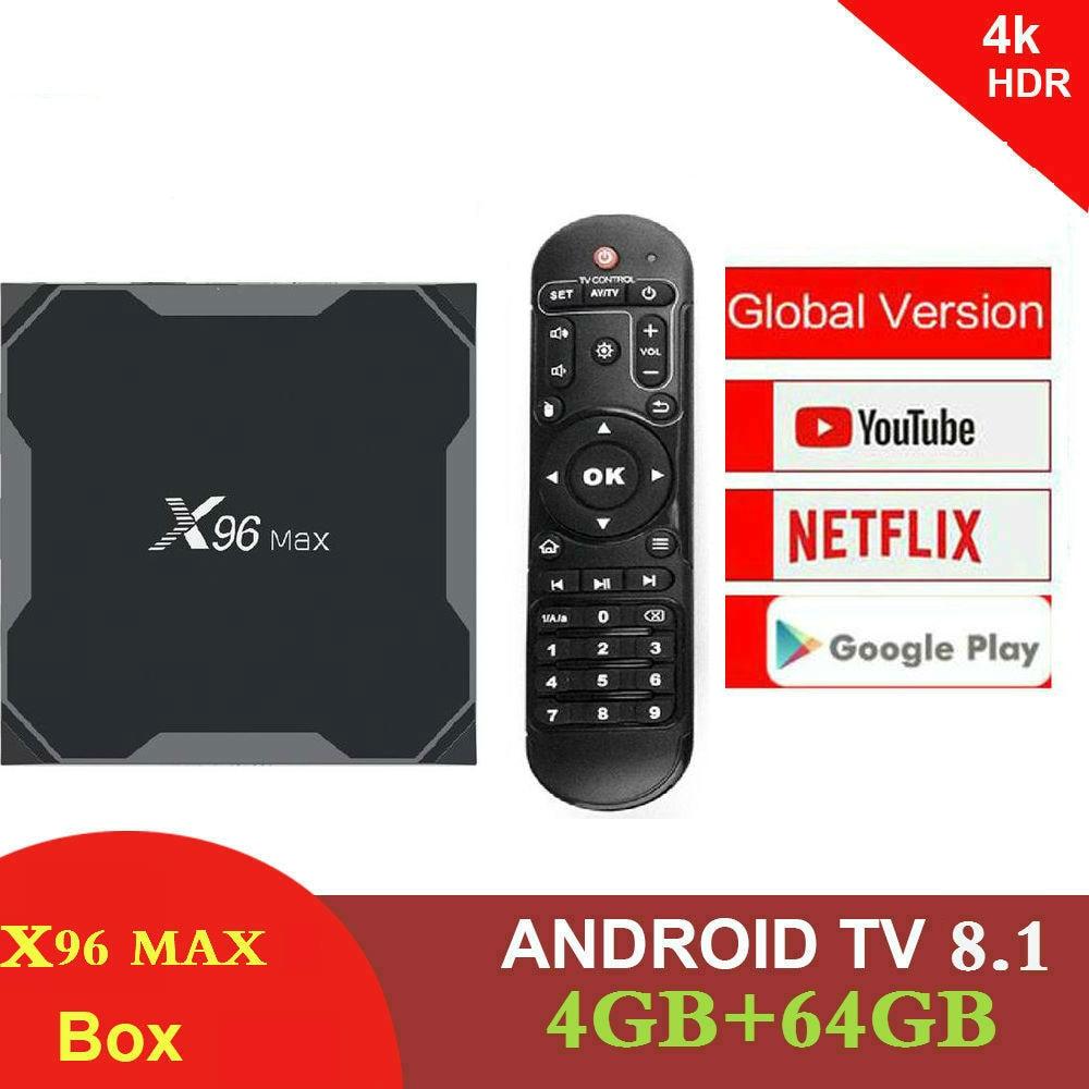 Android 8,1 caja de TV X96 Max Amlogic S905X2 4 K Media Player 4 GB RAM 64G X96Max DDR4 QuadCore 2,4G y 5G Dual Wifi pk T9 H96 MAX Plus - 6