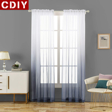 CDIY Modern 3d Printed Tulle Curtains For Living Room Bedroom Kitchen Soile Voile Sheer Curtains Window Screening Decorations цена и фото