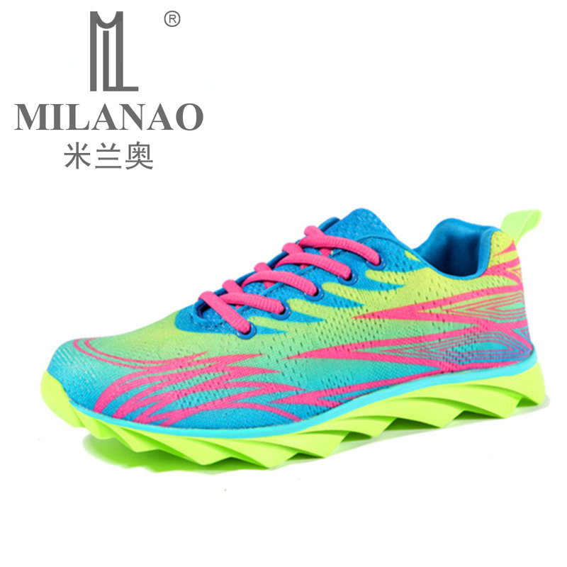save off a8d28 caad3 MILANAO Running Shoes Mens Women Sport Sneakers 2016 Mens Sneakers  Breathable Walking Shoes Sneakers Women zapatilla mujer-in Running Shoes  from ...