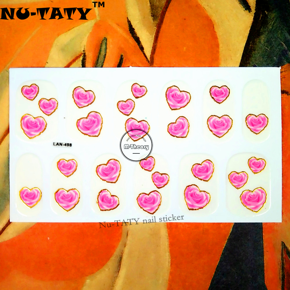 20 стиль Ногтей Обертывания Наклейки, небольшой Мизинец Сердца Блеск Конструкции, водонепроницаемый Ногтей Искусство Польский Гель Фольги Держать 2-3 недели