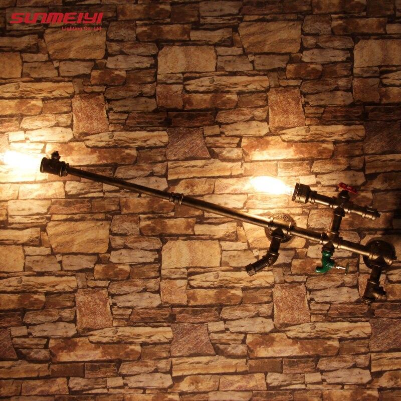 Vintage Edison Ampoule Éclairage Mural Lampe Mobilier En Fer Forgé Rétro Loft Creative Personnalité Industrielle Lumière pour Restaurant