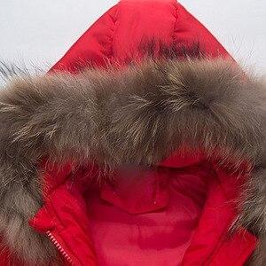 Image 5 - סתיו חורף מעיל ילדים עבור בני Gilrs ילדים למטה מעילי כולל סלעית חליפות הללו פרווה Parka מעיל צפצף סט להאריך ימים יותר