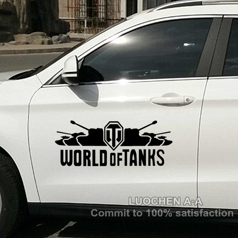 Car Stickers World of Tanks Creative Decals Scratches Cover Waterproof Carved Sticker Auto Tuning Styling 50*20cm & 100*39cm D21