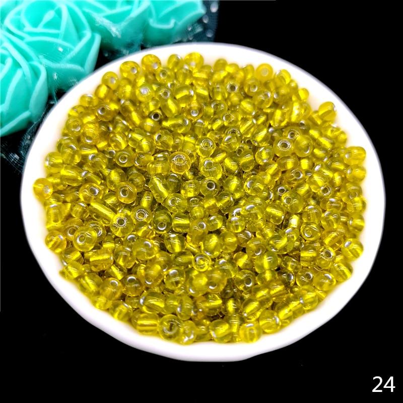 2 мм 3 мм 4 мм Чешский бисер хрустальный стеклянный бисер для изготовления ювелирных изделий серьги ожерелье браслет Подвески ручной работы сделай сам - Цвет: 24