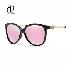 Feidu cat de ojos gafas de sol polarizadas de moda de mujer de marca retro ladies gafas de conducción espejo gafas de sol uv400 oculos gafas de sol