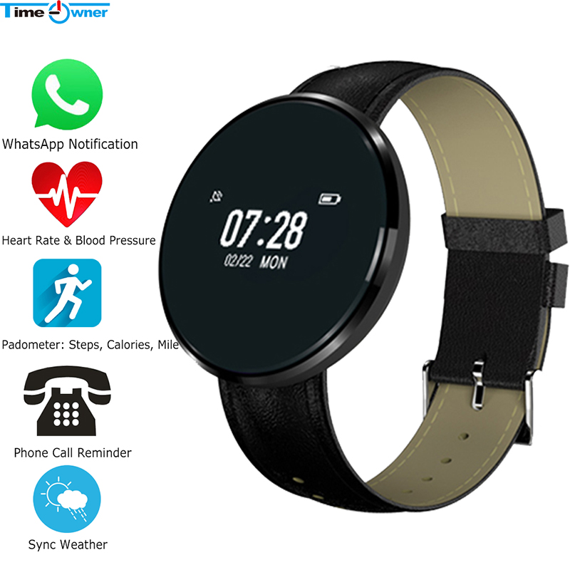 US $29 65 30% OFF|Time Owner CF006 Bluetooth Clock Smart Bracelet Sync  Weather Social App/MSN Push Call Remind Heart Rate Sleep Monitor Smart  Band-in