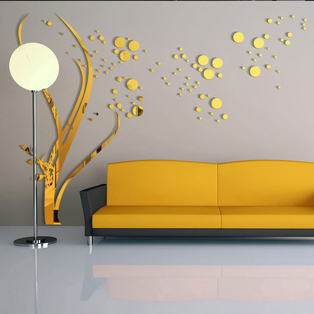 Online Shop 3D Large Size Round Dots Tree Wall Stickers Home Decor ...