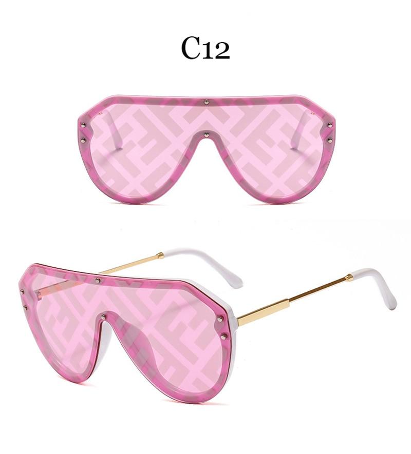 2019 New F Watermark One-piece Sunglasses PC Copy Film Men Women Sunglasses Girls Personality Colorful Fashion Wild Sun Glasse (18)