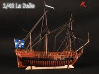 RealTS деревянный корабль модели наборы лодки 3d лазерной масштаб 1/48 La Belle 1682 полный ребра модель