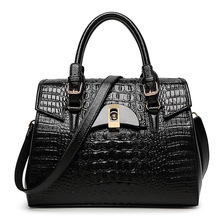 2016 Fashion Women's PU Leather Handbags Elegant Crocodile Pattern Handbag Aligator Handbag High Quality Women's shoulder bag