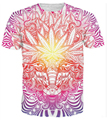 drop shipping! Summer Style 3d t shirt women men Weed Goat T-Shirt psychedelic baphomet style casual tees tops plus size S-XXXL
