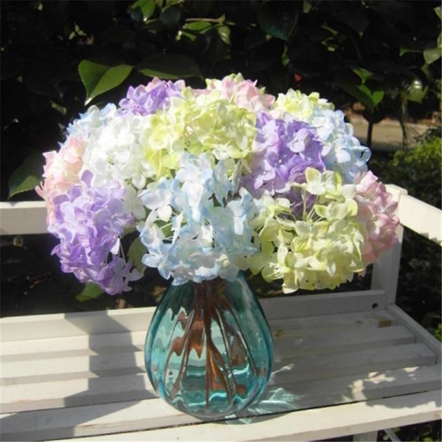 1pcs bluepinkwhitepurple silk flower artificial hydrangea wedding 1pcs bluepinkwhitepurple silk flower artificial hydrangea wedding home office decoration mightylinksfo