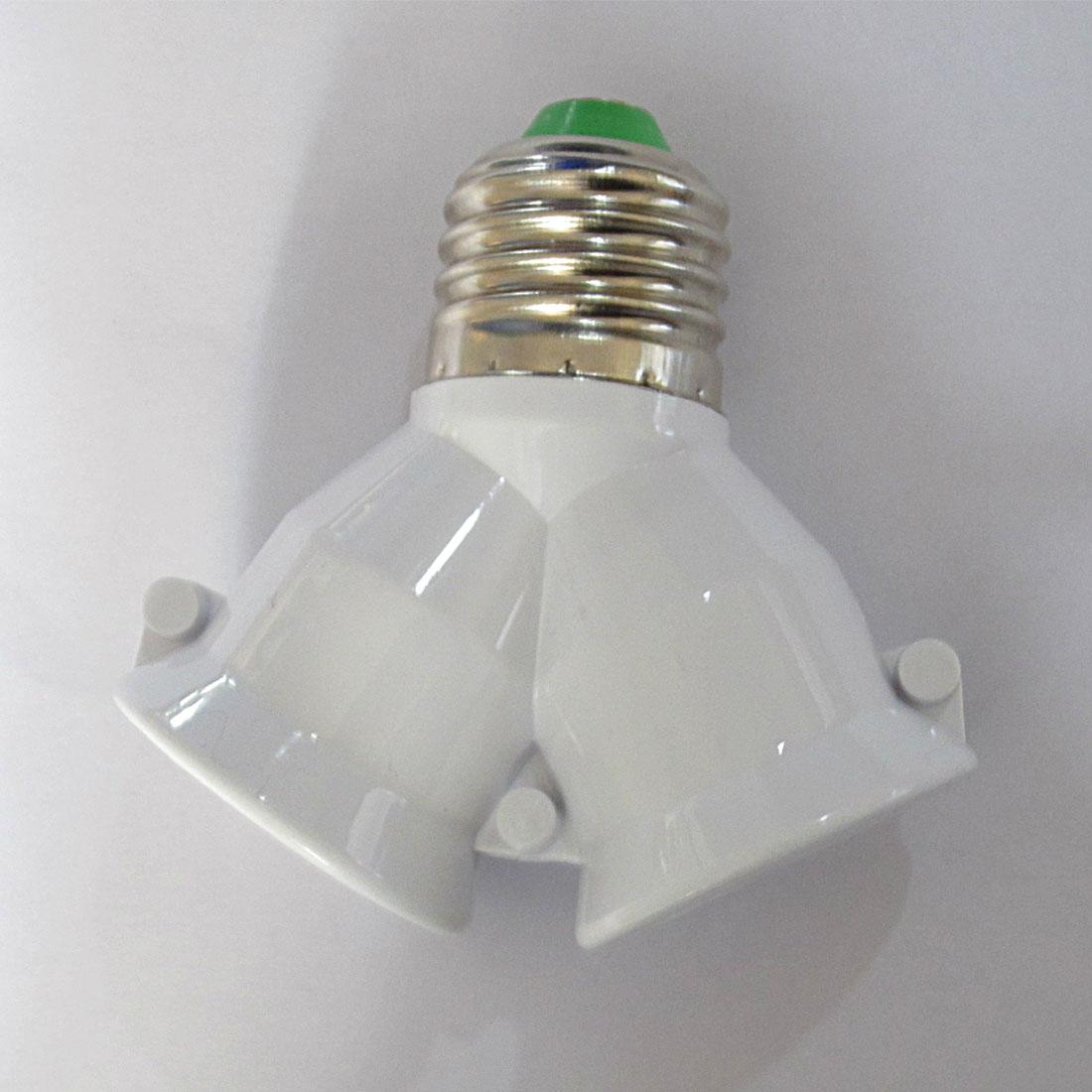 Bulb Base Adapter 1PC E27 To Double E27 Socket Base Extender Splitter Plug Light Lamp Bulb Holder