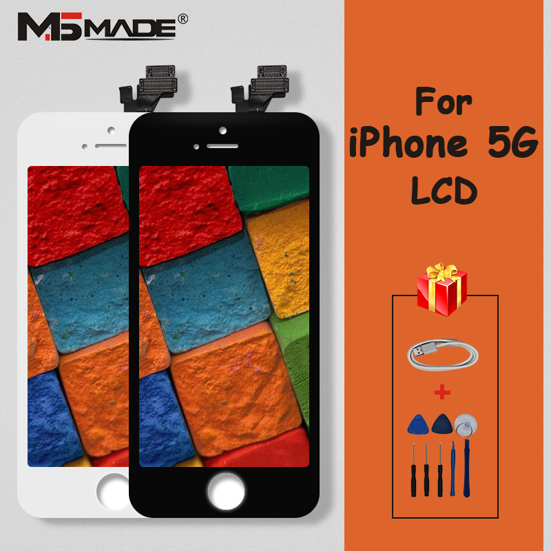 AAAAA Quality Display For iPhone 5 5G LCD Screen Touch Display Digitizer Replacement Parts For iPhone 5S 5C LCD Original 5G image