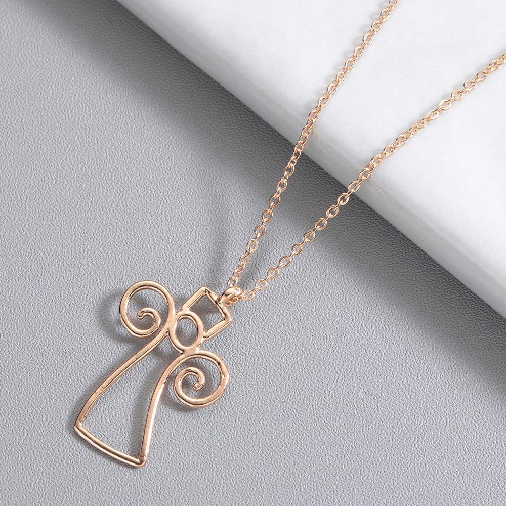 Chereda Ethnic Origami Geometric Necklaces Women Stainless Steel Hollow Pendants Choker Necklaces Pendants bijoux femme in Pendant Necklaces from Jewelry Accessories