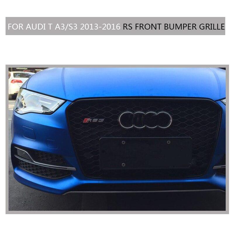 A3 S3 Sline Grille black Emblem Front Bumper mesh Radiator Grille For Audi A3 S3 2013~2016 S Line car styling