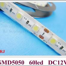 Водонепроницаемый IP44 SMD 5050 светодиодный полосы света светодиодный ленточный фонарь лента Светодиодная гибкая мягкая светящаяся лента лампа DC12V SMD5050 60 Светодиодный