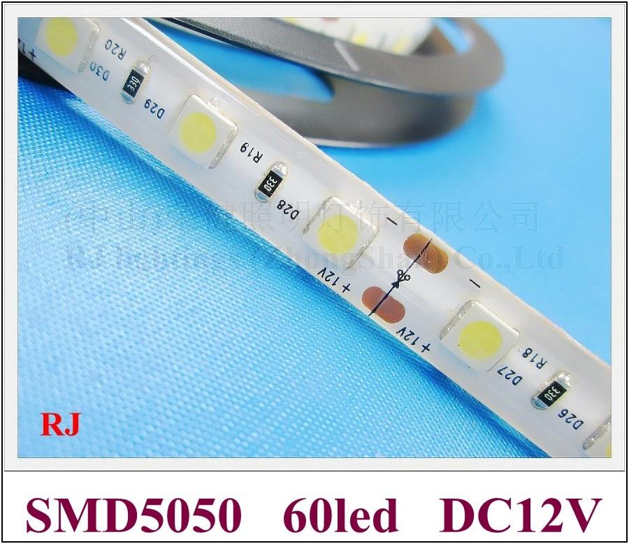 the best attitude b5ebf 0ac04 US $90.0 |waterproof IP44 SMD 5050 LED strip light LED ribbon light  flexible strip LED soft strip light lamp DC12V SMD5050 60 led-in LED Strips  from ...