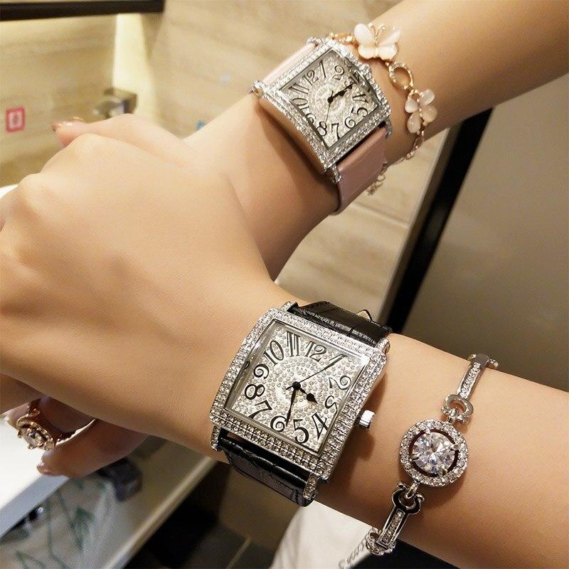 Fashion Casual Women watch Contracted Leather Strap Wrist Watches Women Dress Ladies Quartz Clock Montre Femme Reloj Mujer