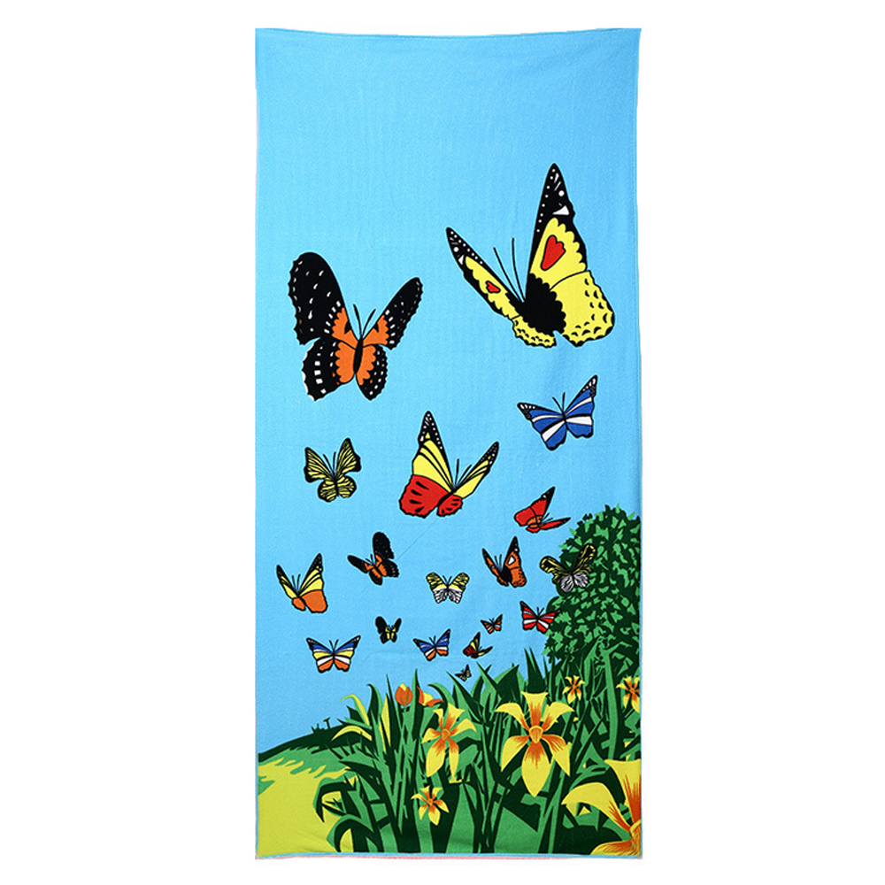 Zipsoft Beach Towels Kids Girls 2018 Printed Soft Water Absorption Microfiber Blanket Capes Mat Plage Hotel Swimming Pool