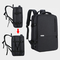 Anti Theft Backpack 17 Inch Laptop Men Backpacks Waterproof Large Capacity Travel Backpacking Women USB Charging Black Bagpack