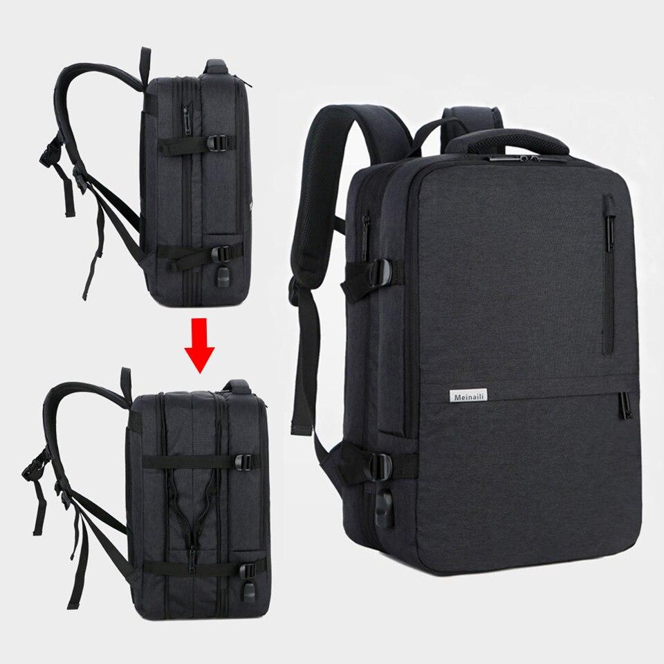 Anti-vol sac à dos 17 pouces ordinateur portable hommes sacs à dos étanche grande capacité voyage sac à dos femmes USB charge noir sac à dos