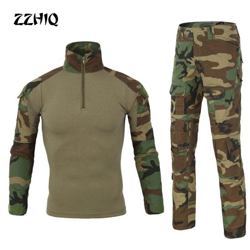 Camouflage tactique militaire rapide assaut vêtements + Paintball armée Cargo pantalon Combat pantalon Multicam Militar tactique