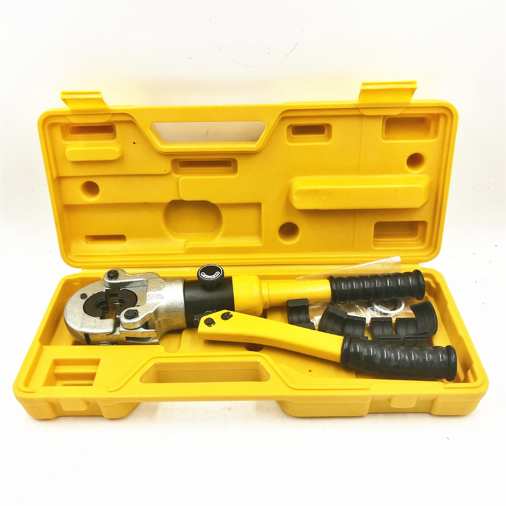 Hydraulic Pex Pipe Tube Crimping Tool CW-1632 Floor Heating Pipe Plumbing Pipe Pressure Pipe Clamp 10T hydraulic tools cw 1632 stainless steel hydraulic pipe wrench water pipe clamp aluminum plastic pipe clamp pipe wrench