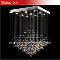 Modern K9 Crystal Chandeliers Pyramid Design Home Lighting Living Room LED Crystal Lamp Creative Lighting Fixtures