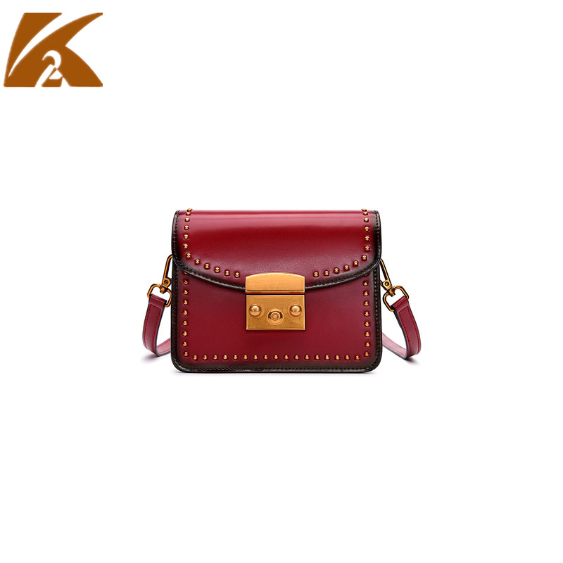KVKY Genuine Leather Crossbody Bags for Women 2018 Vintage Real Cow Leather Messenger Bags Female Small Party Purse Shoulder Bag цена