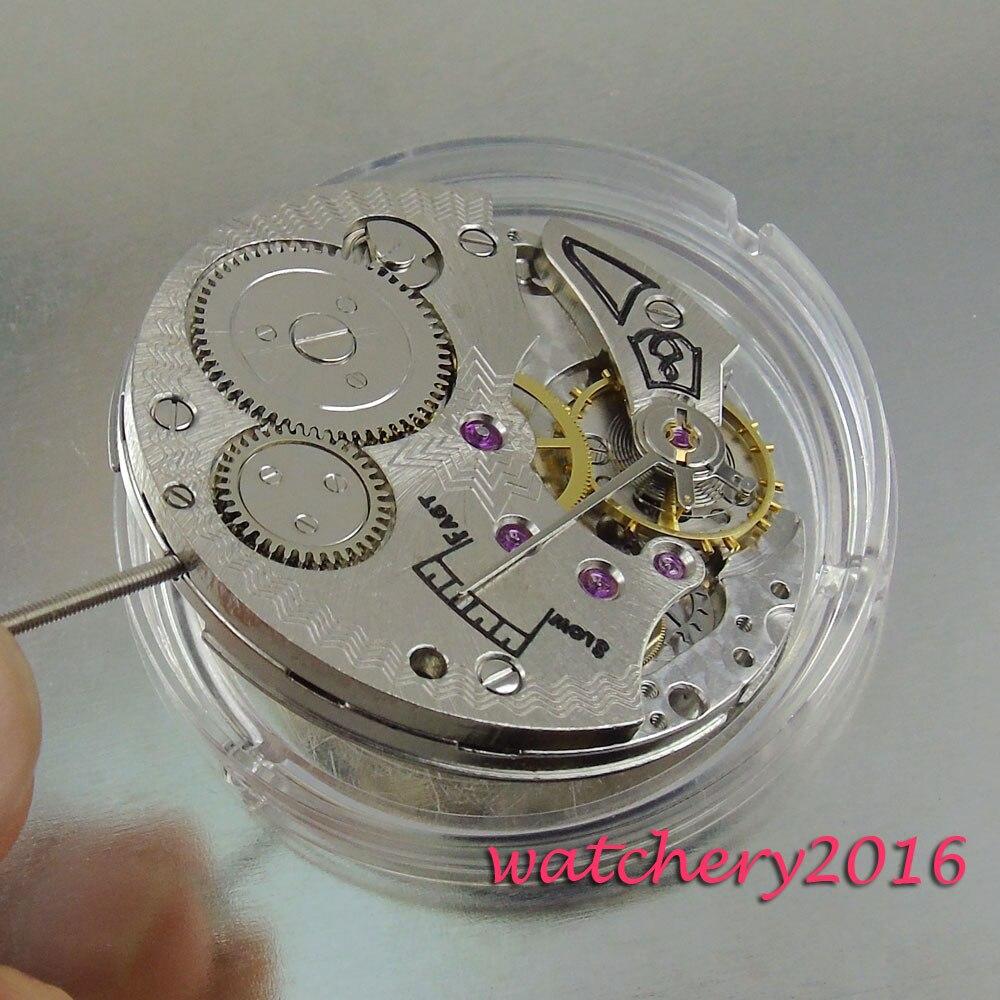 Vintage 17 Juwelen 6498 Mechanische Handaufzug edelstahl herren Uhr Bewegung-in Zifferblätter aus Uhren bei  Gruppe 2