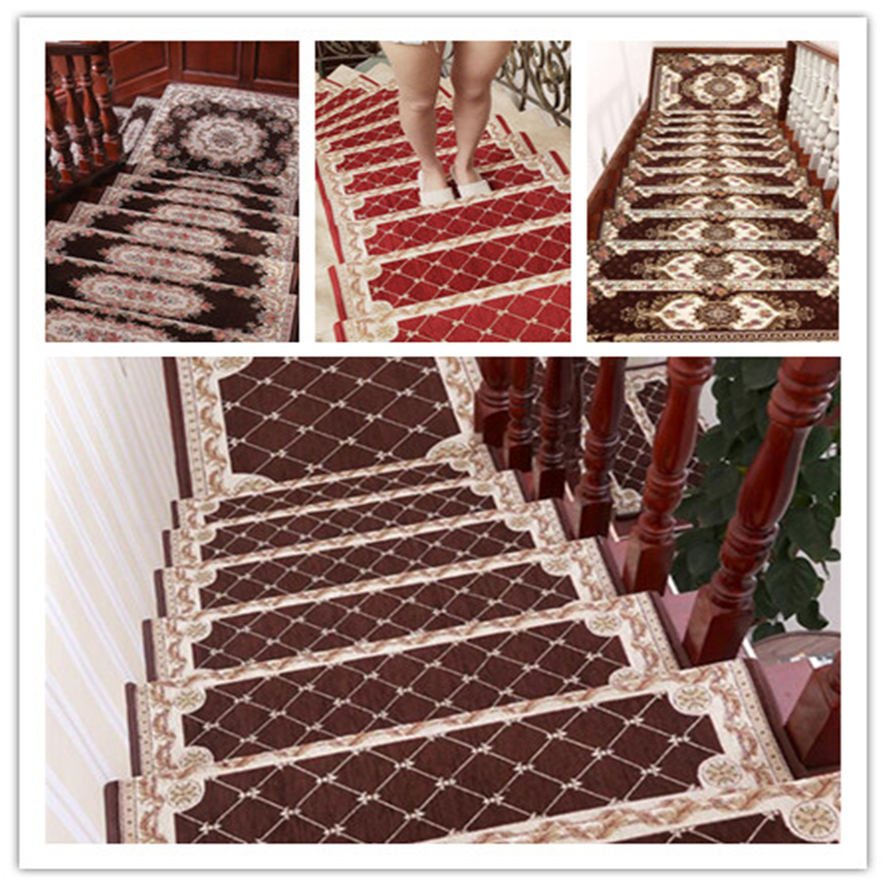 beibehang 13pcs new square stair step mat glue-free self-adhesive non-slip mat living room corridor carpet mats can be custom