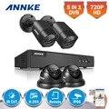 Annke 1080n hd 5in1 4ch dvr cctv sistema 4 pcs 720 p TVI Dome e tipo de Bala de Vigilância CCTV Câmeras de Segurança Ao Ar Livre kit