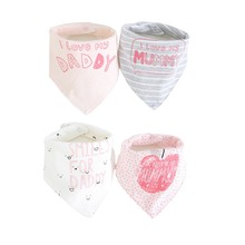 4pcs/lot Baby Bibs Newborn Cotton 3 layer Waterproof Saliva Towel Drooling bandana Scarf 0-24 Month baby feeding Accessories