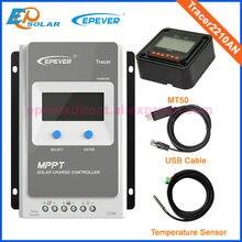 EPEPEVER – contrôleur de Charge MPPT pour panneaux solaires, 12V/24V, LCD, avec USB, capteur de température et compteur MT50 ebox-WIFI-01 BLE, 2210AN, 2206AN, 20A