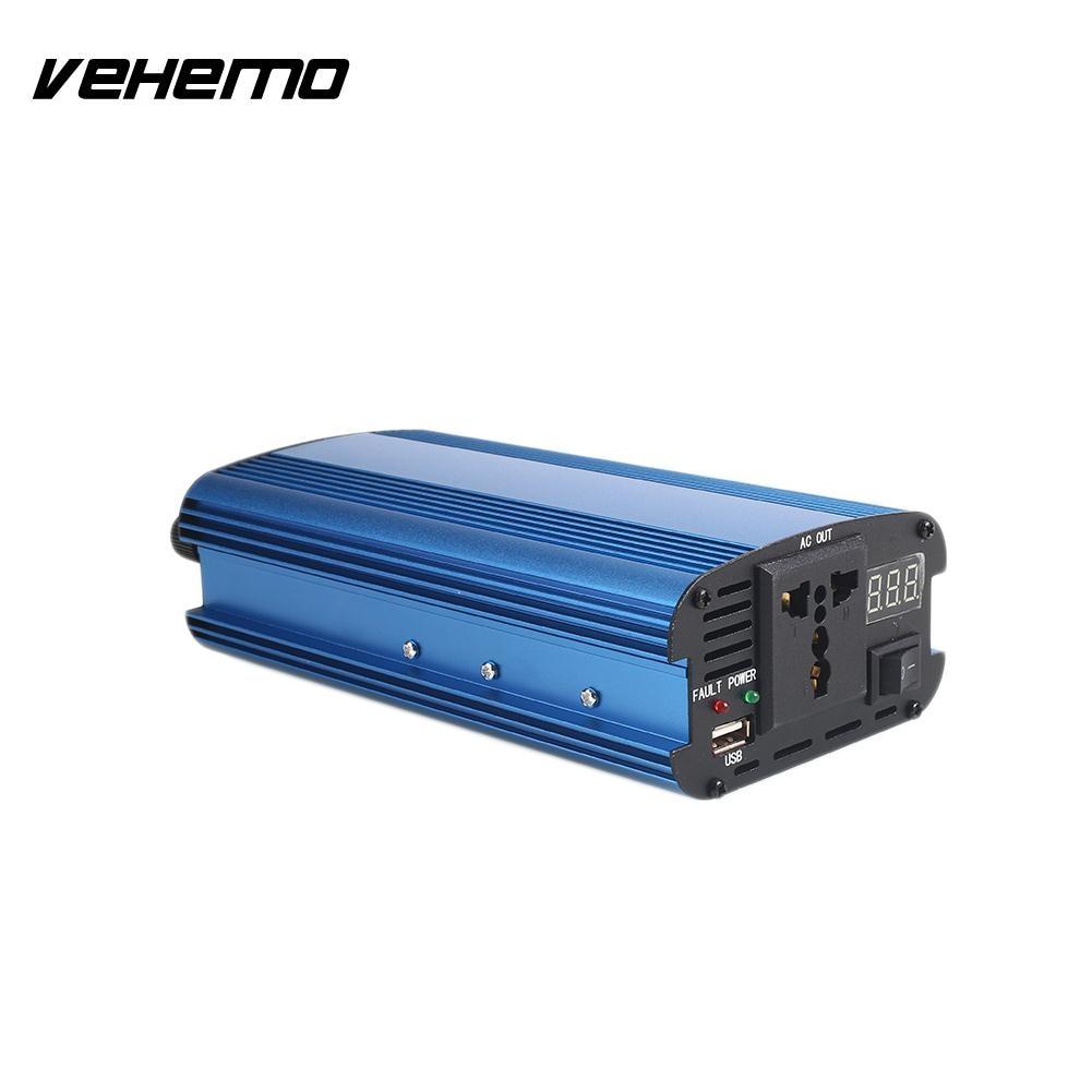 Vehemo 4000W Sine Wave Car Inverter TV Converter Solar Power Inverter Portable Stable Vehicles DC12V To AC220V vehemo 4000w dc12v to ac220v converter truck car power inverter car inverter premium stable automobile usb