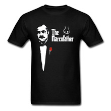 The Godfather Pablo Escobar Tshirts Colombian Mafia Narcos Hero T Shirts For Men Silver or Lead Plata O Plomo