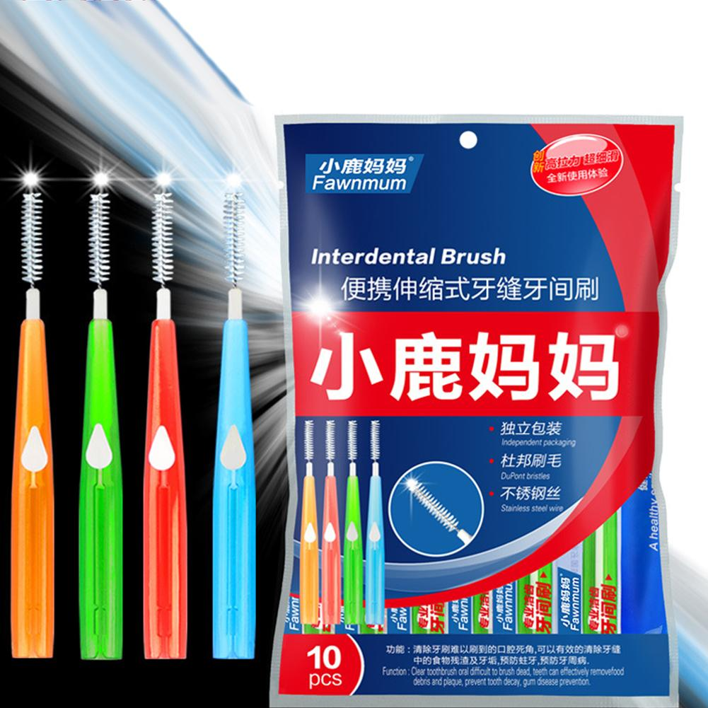 10Pcs Tooth Cleaning Push pull Interdental Brush Toothpicks Dental Oral Hygiene hot sale|Interdental Brush|   - AliExpress