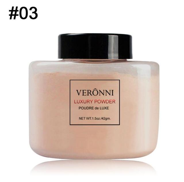 VERONNI Face Powder Makeup Matte Finish Loose Powder Natural Brighten Oil-control  Banana Loose Powder 42g 5