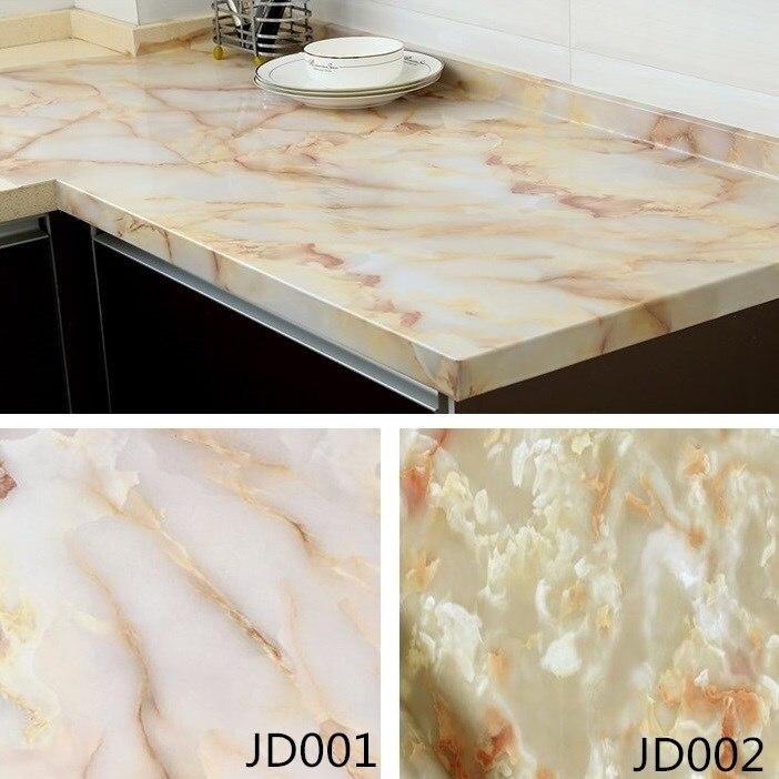 US $23.5 6% OFF|Marble Self Adhesive Wallpaper Furniture Tiles Kitchen  Backsplash Vinyl Decor Wall Sticker Home Decor Wall Paper Jade pattern-in  Wall ...