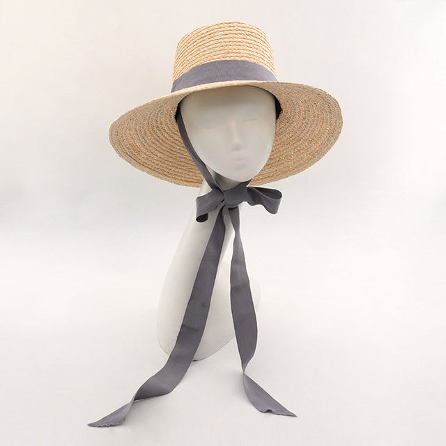Muchique Bucket Hat Summer Beach Sun Hats for Women 2017 Raffia Straw Hats  with Ribbon Tie ca144c4aaff